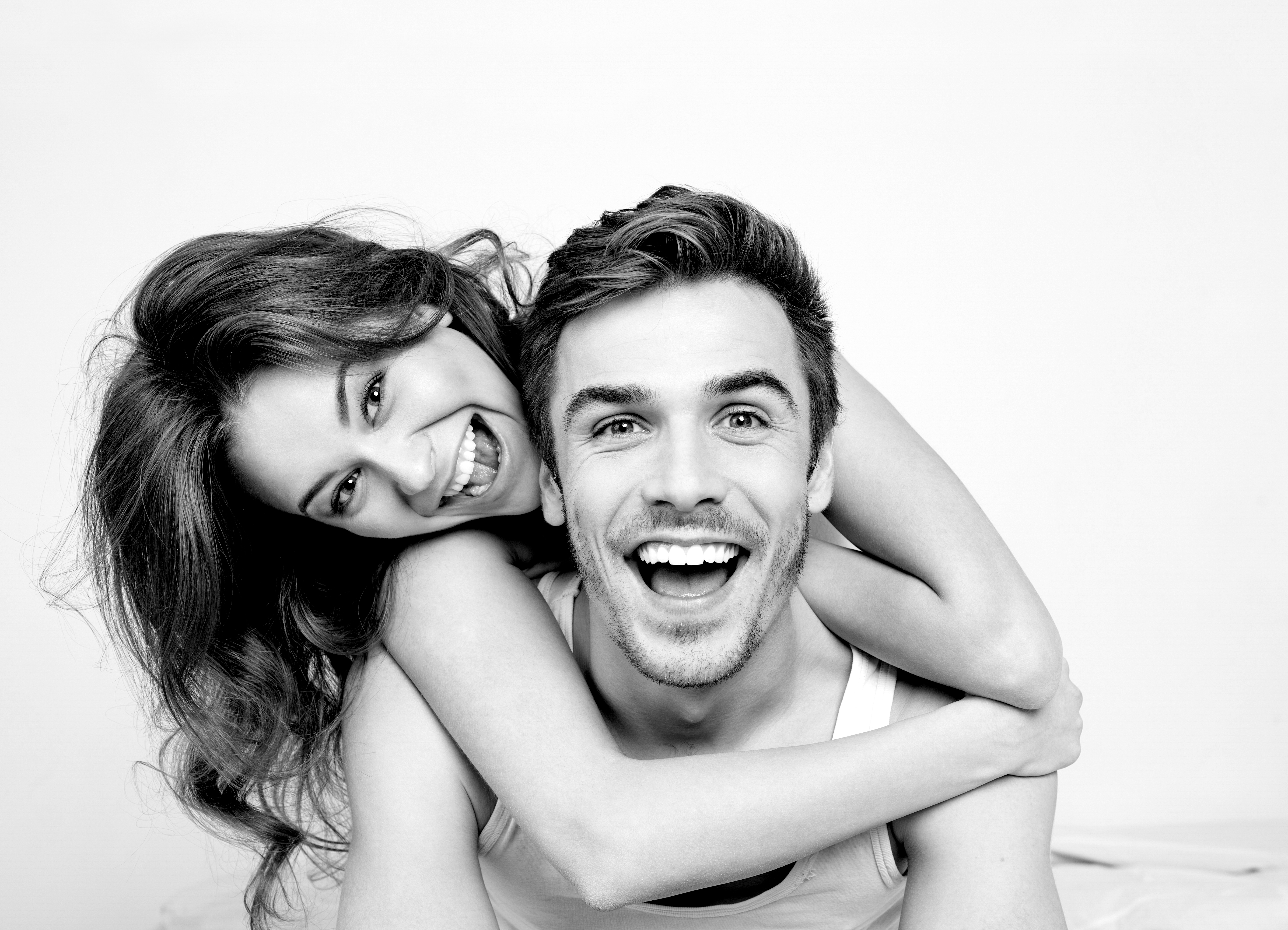 Couple Smiling BW shutterstock 426031795